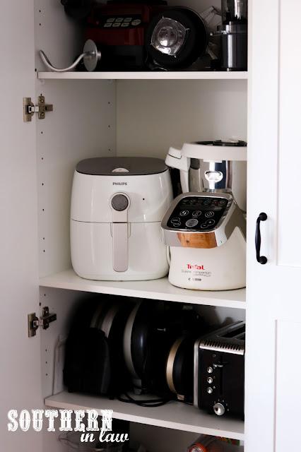 Shaker Style Appliance Cupboard - Repurposed Kitchen Cabinets