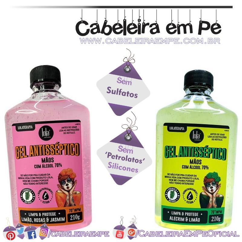Álcool em Gel - Lola Cosmetics Alecrim & Limão e Limão, Rosas & Jasmim