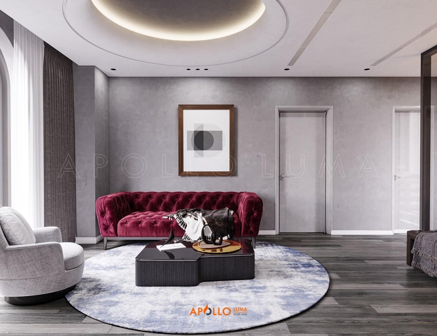 Thiết kế nội thất biệt thự song lập Vinhomes Ocean Park