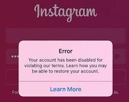 خطوات استرجاع حساب انستغرام معطل