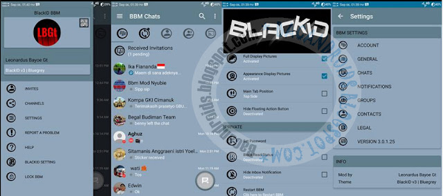 Download BBM Mod BlackID v3 Blue Grey The Base versi 3.0.1.25 Apk terbaru
