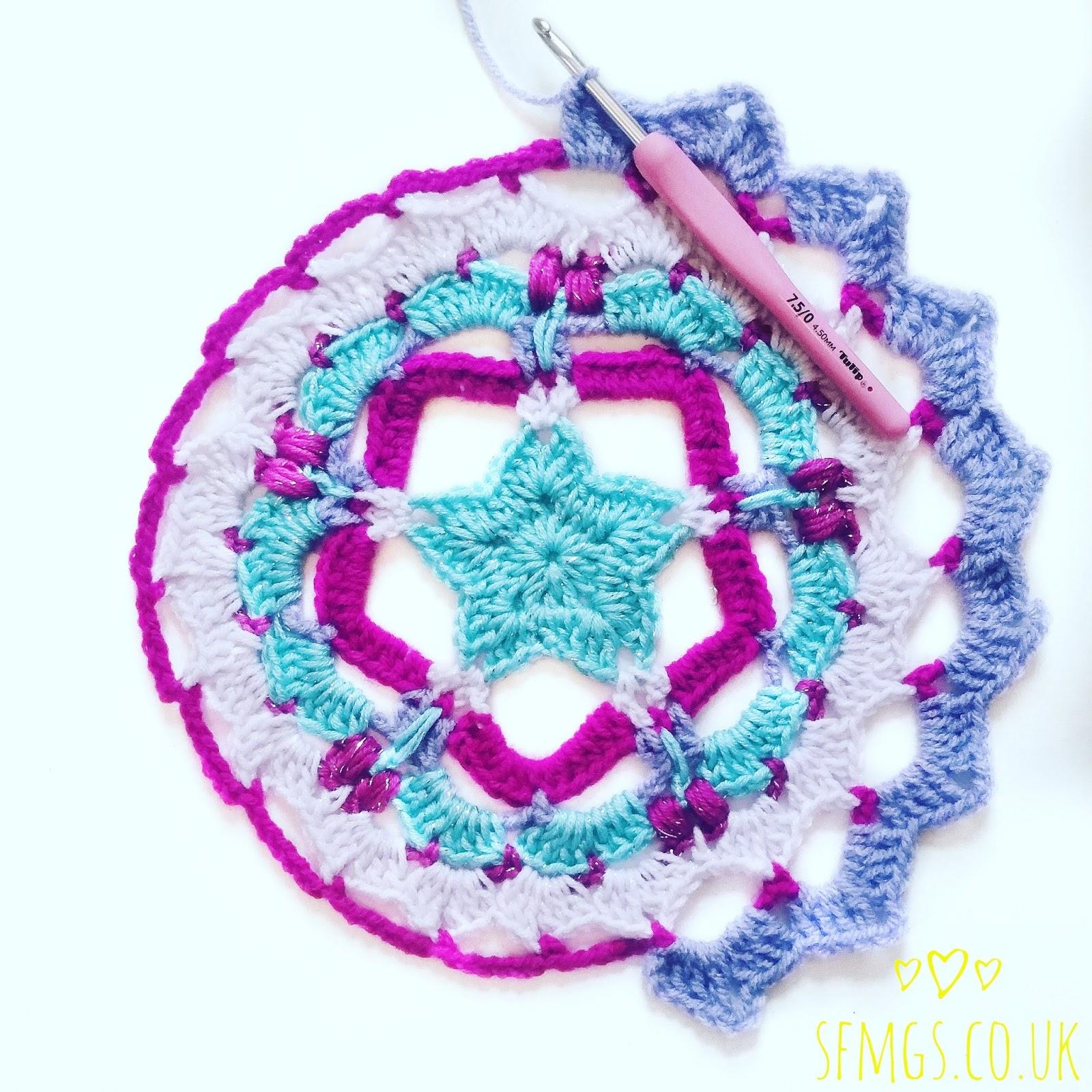 star crochet mandala pattern free