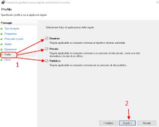 Regola personalizzata firewall - Cortana 6