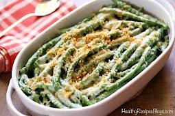 Creamy Green Bean Casserole from Scratch #creamy #vegetarian