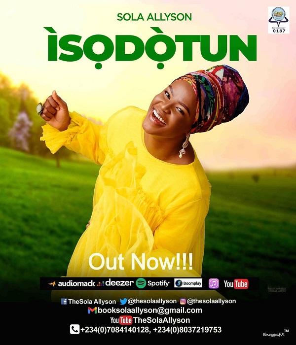 "Sola Allyson Unveils 9th Studio Album Titled ""Isodotun"" | @thesolaallyson"