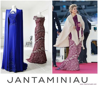 Queen Maxima : JAN TAMINIAU Dress