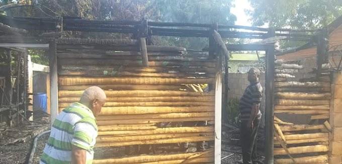 Neyba: Fallas energéticas provocarían fuego consumió vivienda en El Tanque.