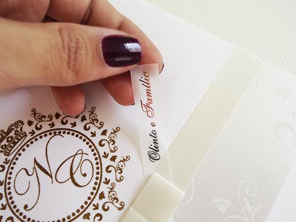 Convite de Casamento Arabesco Brasão Belo Horizonte