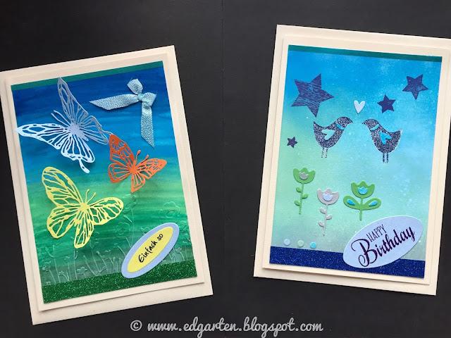 Vogel- und Schmetterlingskarte