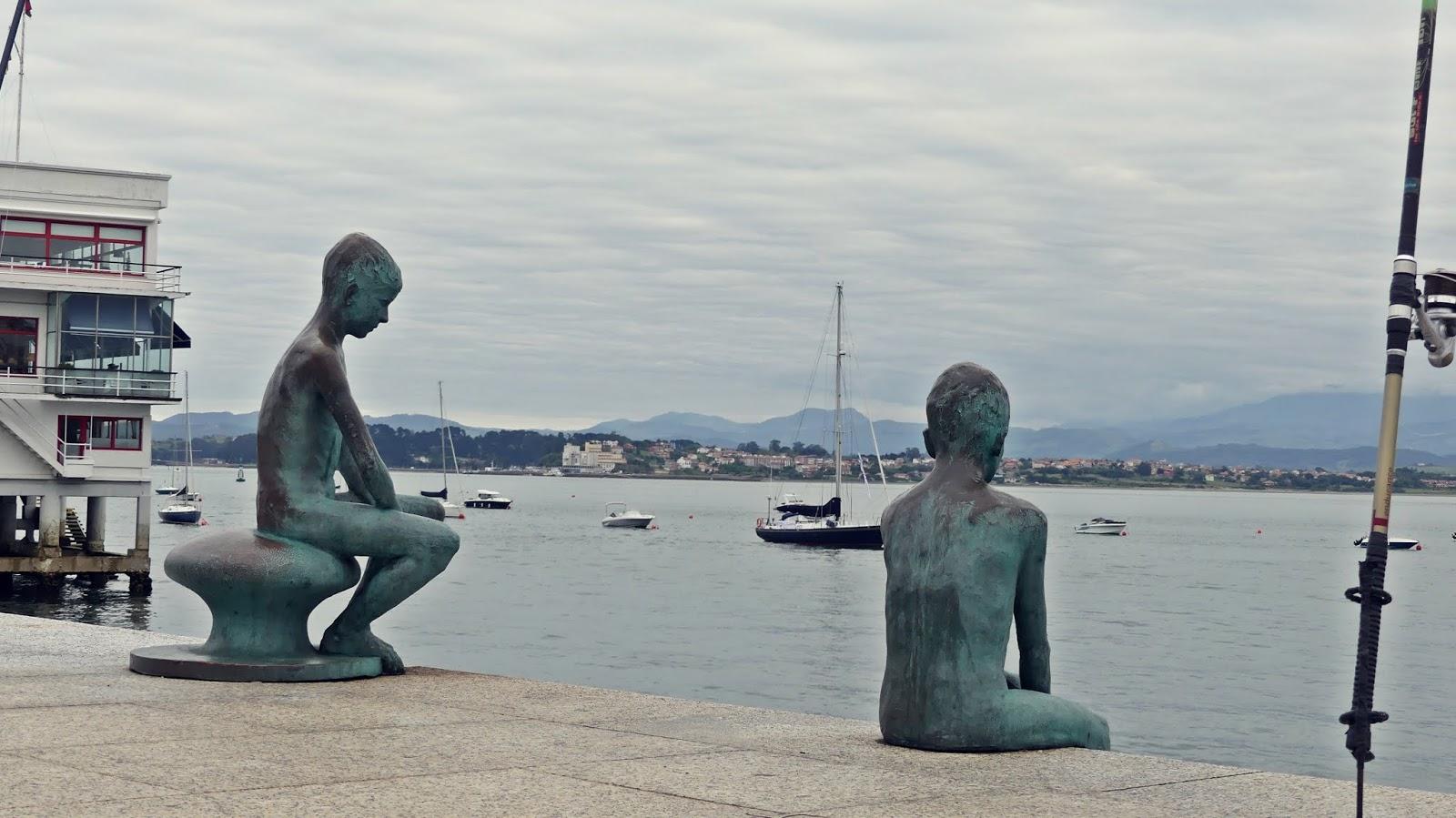 Statua Los Raqueros Santander pomniki