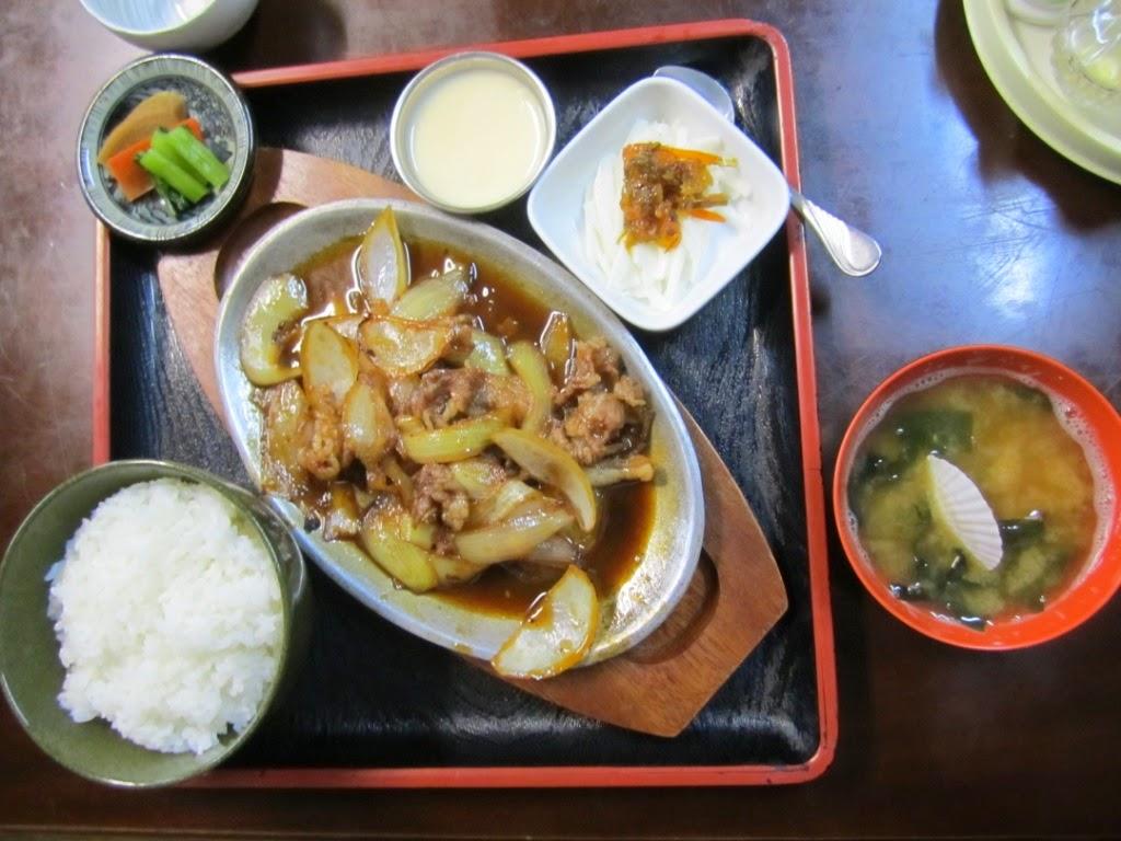 Beef Barayaki Set Miki 牛バラ焼き定食 食事処味喜
