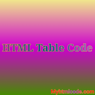 HTML Table Code