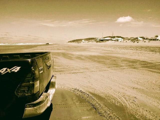 Playa de Pinamar en Argentina