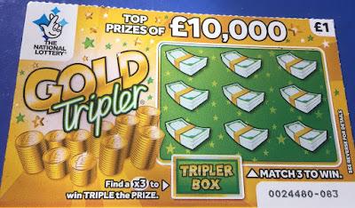 £1 Gold Tripler Scratchcard