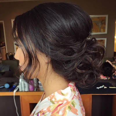 peinados recogidos con volumen