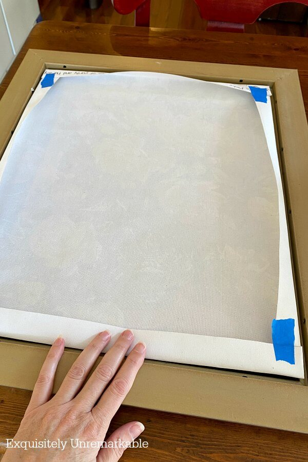 Folding A Canvas For Framing