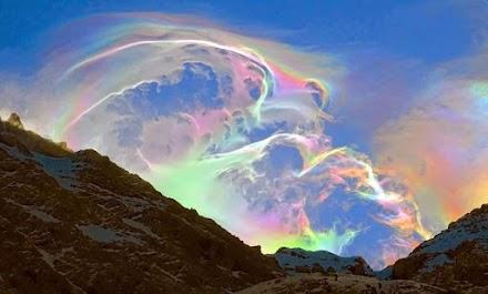 Ιριδίζοντα σύννεφα : Ένα σπάνιο φαινόμενο της φύσης συνέβη τον περασμένο μήνα στα Πυρηναία όρη