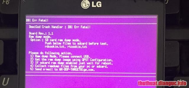 "[HƯỚNG DẪN] LG L80 (D380) lỗi ""DBI Err Fatal"" (màn hình hồng) + imei 0 fix ok"