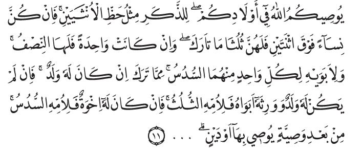 Q.S. an-Nisa'/4:11