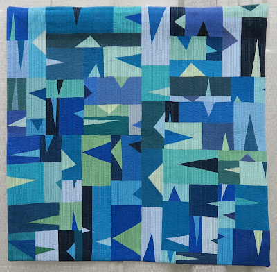 Quiltcon 2020 - Triangled Up in Blue by Ruthann Grace