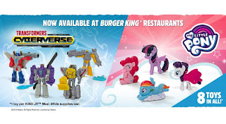 My Little Pony and Transformer Figures Now at Burger King