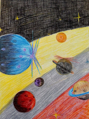 Solar system drawing image