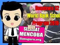 Info Beasiswa S2 World Bank Scholarships Program Tahun 2019-2020