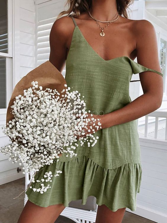 Looks de verão vestido verde