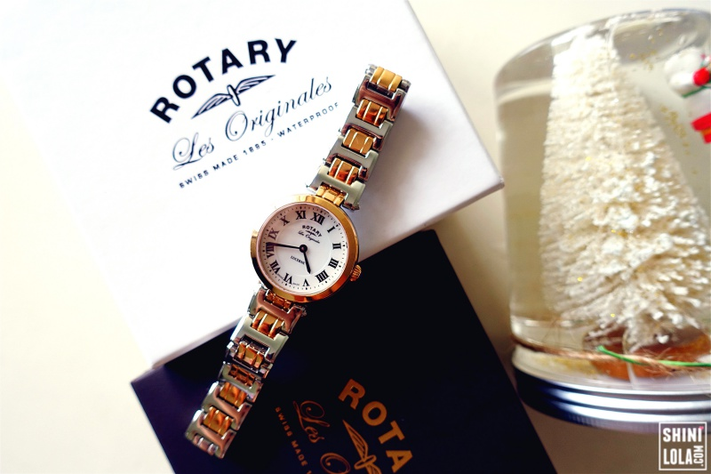ROTARY LUCERNE LADIES TWO TONE ROSE SWISS WATCH