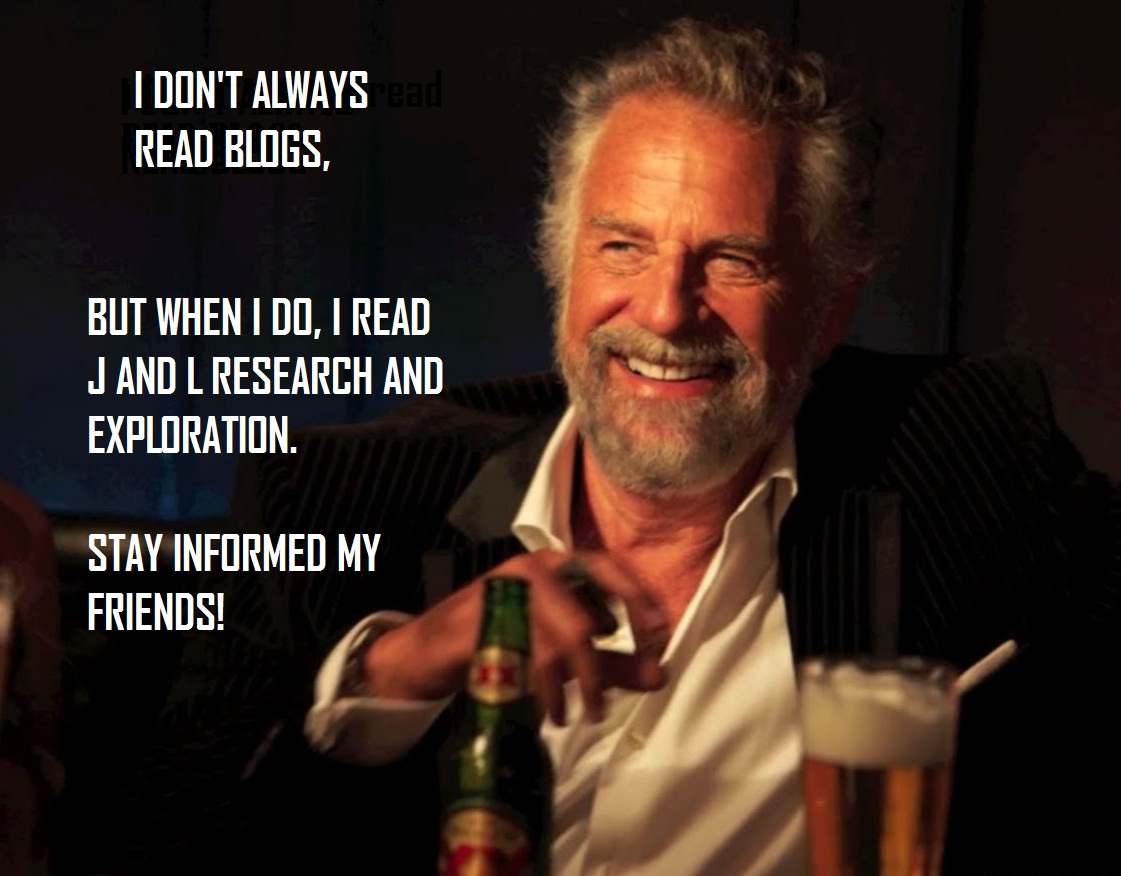 j and l research and exploration the world s most interesting man
