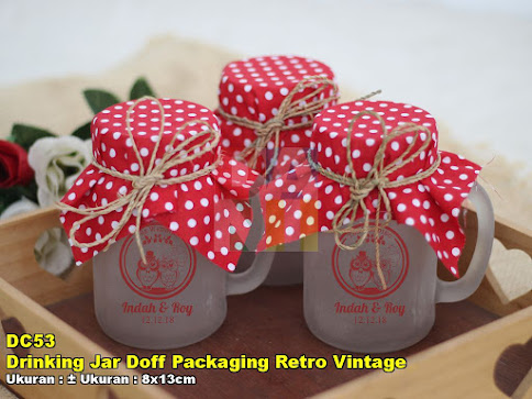 Drinking Jar Doff Packaging Retro Vintage