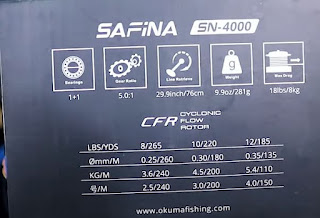 Spesifikasi Reel Okuma SAFINA 4000
