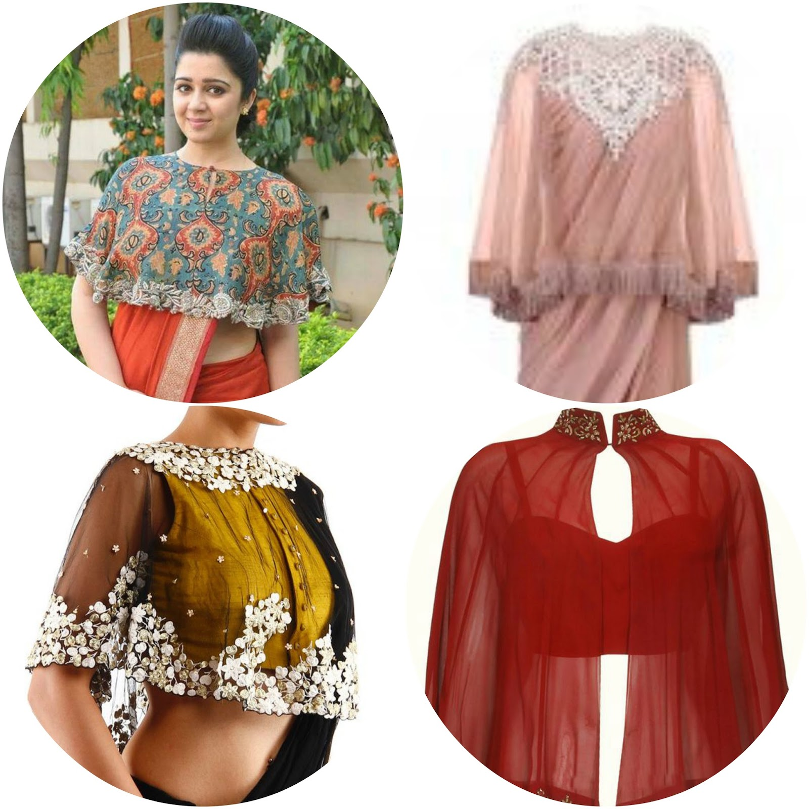 Poise passion 10 best saree blouse designs of 2017 must for Cape designs