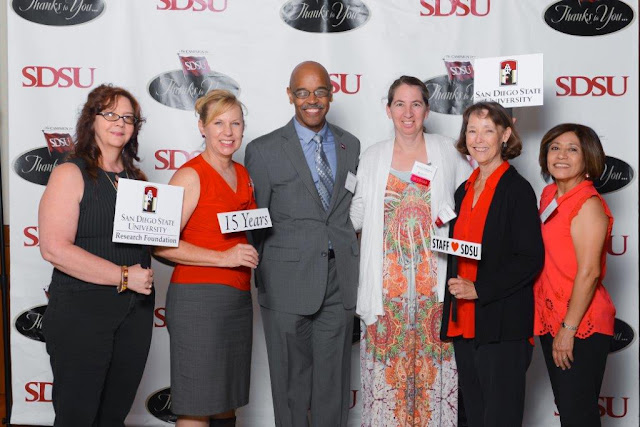 staff awardees with dean johnson