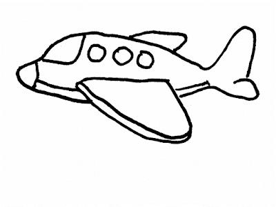 Gambar Mewarnai Pesawat Terbang - 3