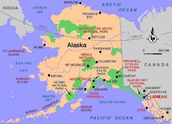 Alaska Map Map Pictures