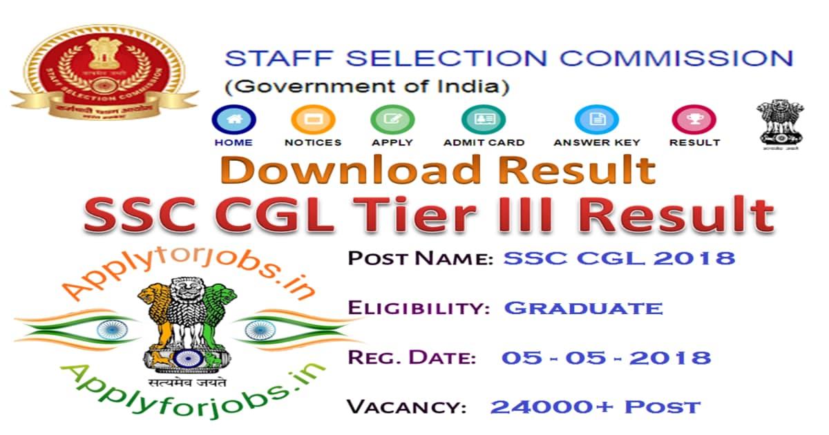 SSC CGL Tier III results 2020 declared, applyforjobs.in