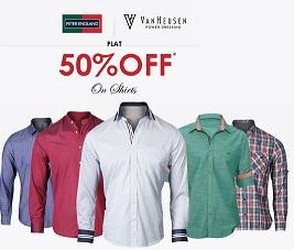 Peter England, Van Heusen Men's Shirts – Flat 50% Off @ Trendin
