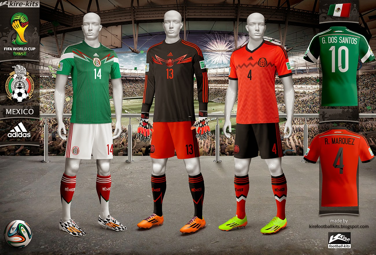 93dfcfae0 Kire Football Kits  Mexico kits World Cup 2014