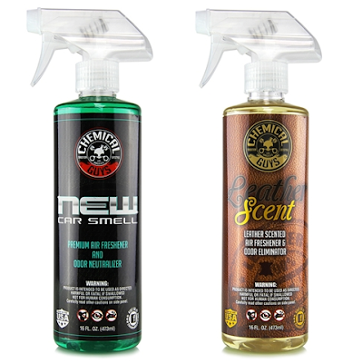 Chemical Guys AIR300 New Car Scent and Leather Scent Combo Pack