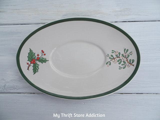 vintage Christmas platter
