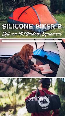 Gear of the Week #GOTW KW 15 | Silicone Biker 2 | Zelt von 10T Outdoor Equipment | 2-Personen-Zelt | Zelt-Radfahren | Zelt-Wandern | Zelt-Trekking