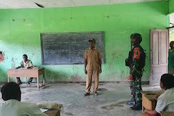 Sepenggal Kalimat Motivasi Kepsek SD N Inpres Batom Bersama TNI Dukung Pendididikan di Papua