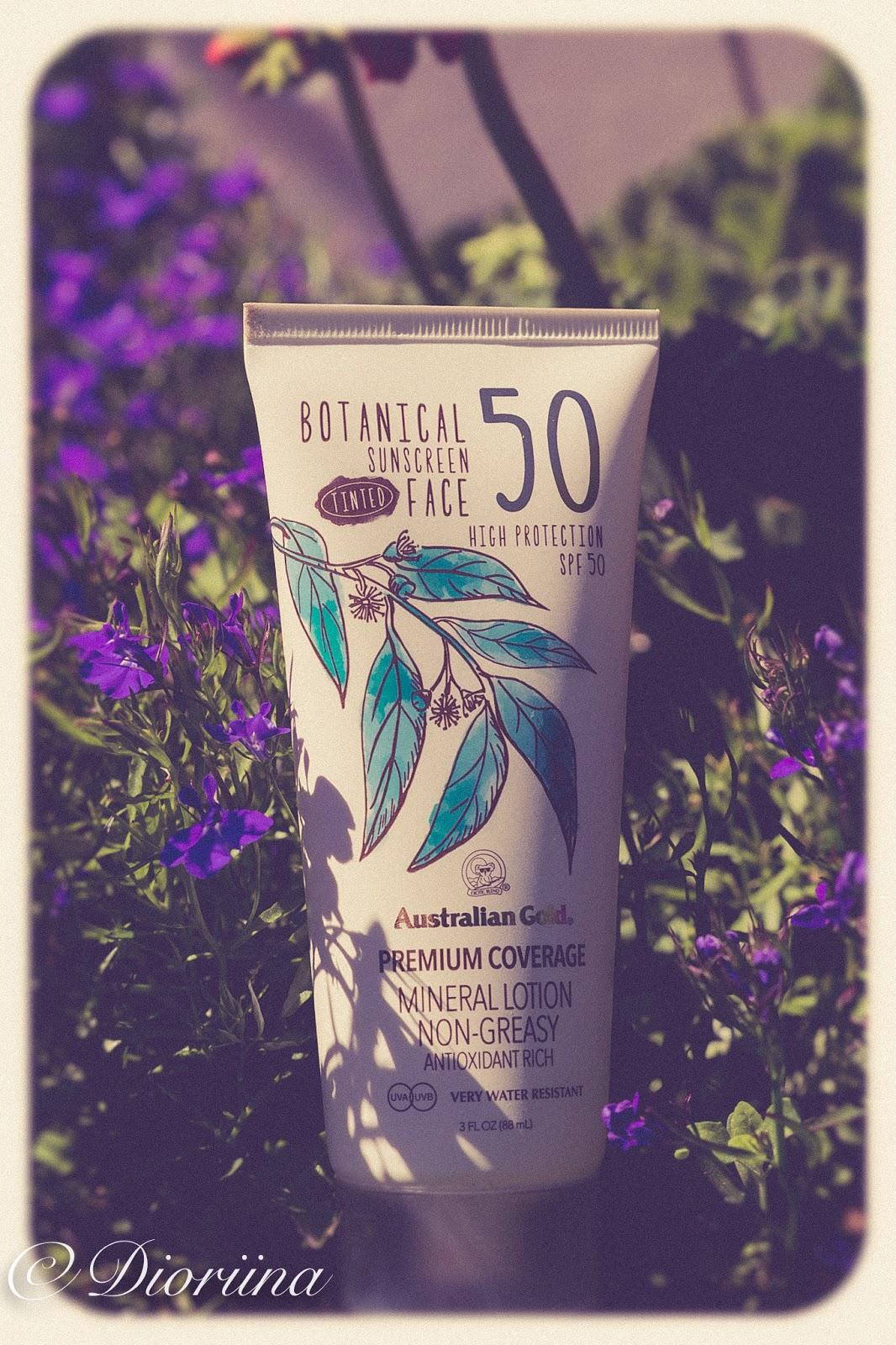 Botanical tinted face sunscreen