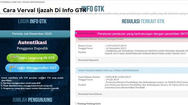 Cara Verval Ijazah Di Info GTK