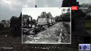 Candi lumbung, materi virtual tour digitiket