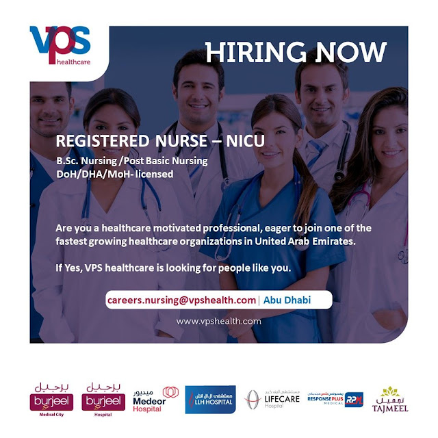 Registered Nurse - NICU - Job Vacancies in UAE : VPS Healthcare Abu Dhabi