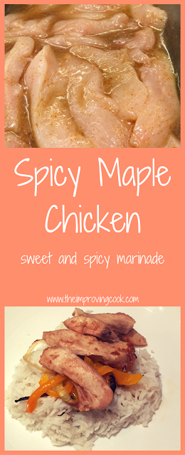 Spicy Maple Chicken Pinnable image