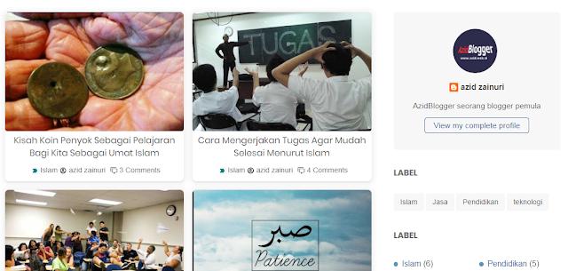 Cara Mengubah Tampilan List Menjadi Grid Home Page di Template Viomagz