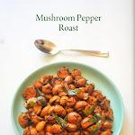 Mushroom Pepper Fry Recipe | Mushroom Pepper Roast | Mushroom Recipes